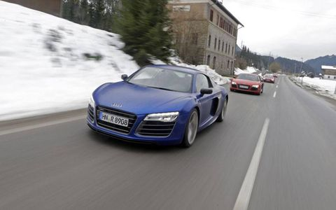 The 2014 Audi R8 was sure-footed during a drive through the mountains.