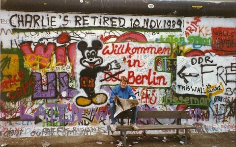 The Berlin Wall, the day after it opened.