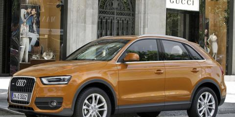 The Audi Q3 went on sale in Europe last year.