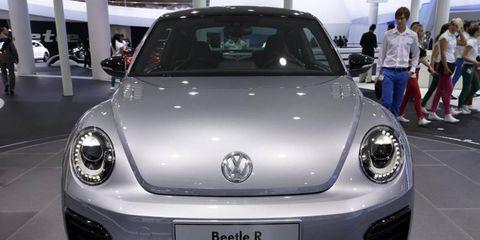 The Volkswagen Beetle R concept shown at the 2011 Frankfurt Motor Show