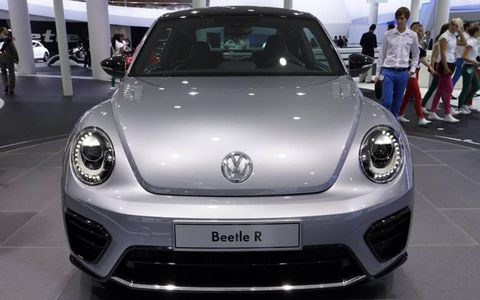The Volkswagen Beetle R concept shown at the 2011 Frankfurt Motor Show