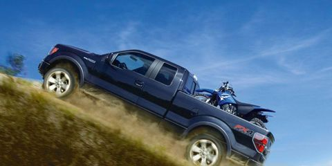 A 36-gallon fuel tank is optional for the 2012 Ford F-150.