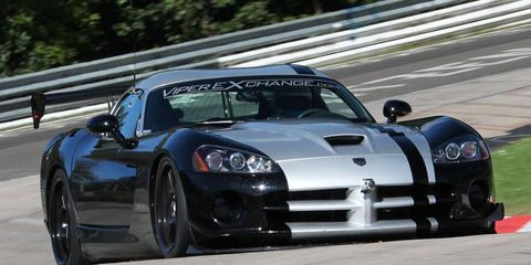 Dominik Farnbacher lapped the Nürburgring in 7 minutes, 12.13 seconds in a Dodge Viper.