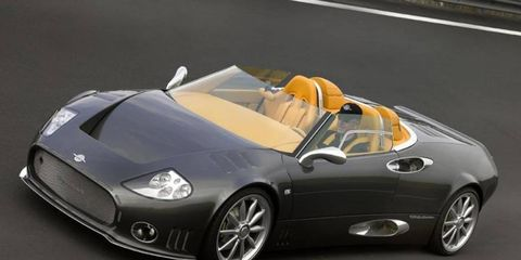 Spyker's lineup includes the C8 Aileron.