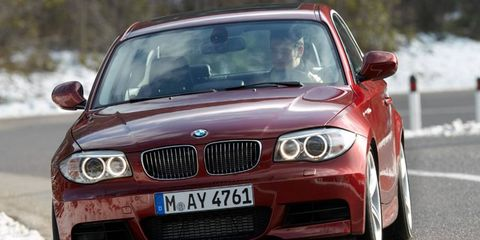 The inline six-cylinder engine in the BMW 128i is rated at 230 hp.