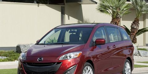 The 2012 Mazda 5 compact van is available with a manual transmission, making it one of the more fun minivans on the market.