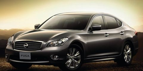 Mitsubishi will sell a rebadged version of the Nissan Fuga sedan in Japan. The Fuga is sold in the United States as the Infiniti M.