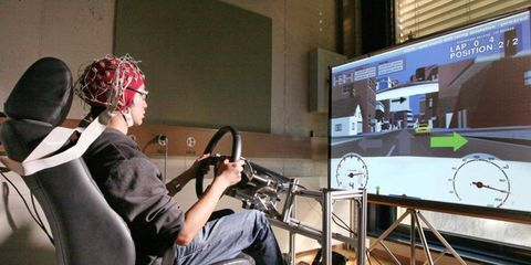 Nissan is researching the use of brain waves to help control cars.