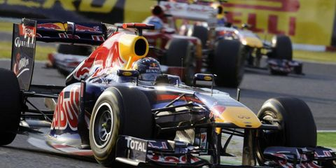 Sebastian Vettel locked up his second consecutive Formula One championship on Sunday.