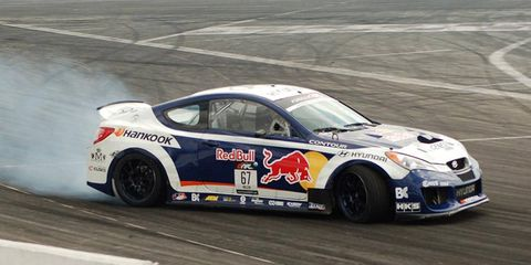 Rhys Millen is shown at practice ahead of Saturday night's final round of the Formula Drift finale.