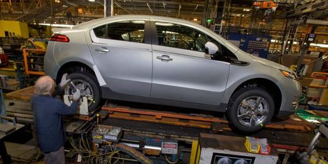 GM still plans to double Chevy Volt production in 2012.