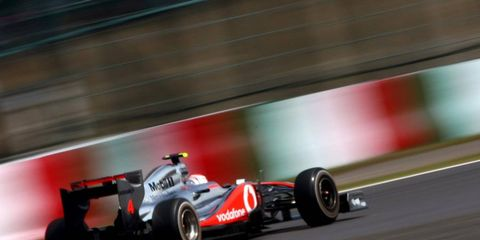 McLaren's Jenson Button was fastest Friday during practice for the Japanese Grand Prix.