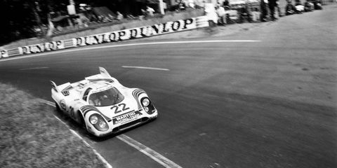 Norbert Singer became a lead Porsche engineer after designing a cooling system for the 917 in 1970, shown on track at a Le Mans competition in 1971.