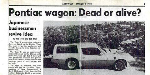 <i>Autoweek</i> archives: The Pontiac Type K (Kammback) wagon