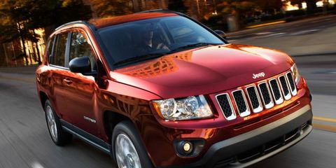 The new Jeep to be built in Italy will be smaller than the Compass, shown.