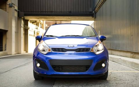 The 2012 Kia Rio is powered by a 1.6-liter direct injection four cylinder.