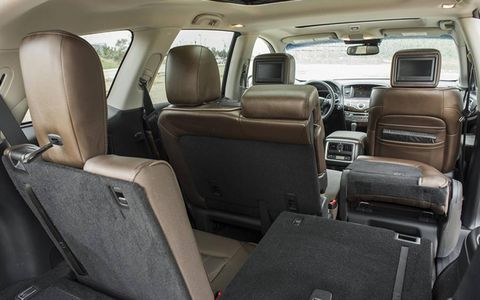 The 2013 Infiniti JX35 offers ample passenger capacity with seven seats.