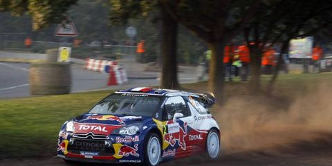 Sebastien Ogier holds a 9-second lead heading into the final day of the Rallye de France.
