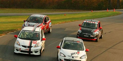 SCCA tests B-spec cars at Grattan Raceway.