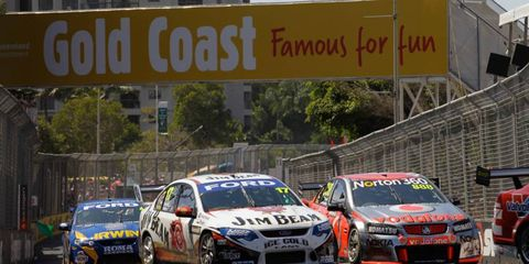 The V8 Supercars event on Oct. 21-23 will include three IndyCar drivers.