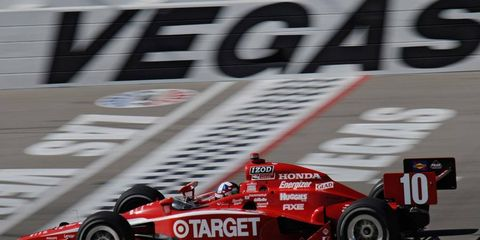 Dario Franchitti has been declared the season champion for IndyCar, his third consecutive title.