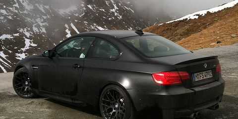 BMW is bringing only 20 copies of the 2011 Frozen Black Edition M3 coupe to North America.