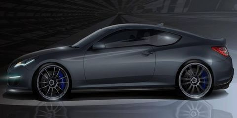 The Hurricane is Hyundai's supercharged Genesis being shown at the SEMA show in Las Vegas.