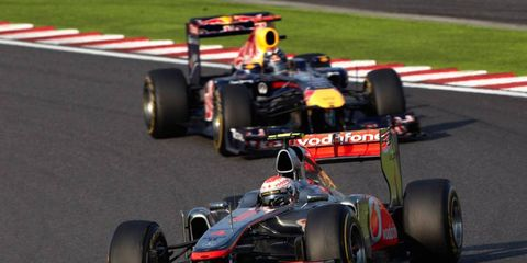 McLaren and Red Bull are still battling for the Formula One constructors' championship.