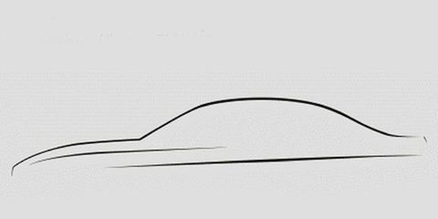 BMW's teaser sketch of the redesigned 3-series.