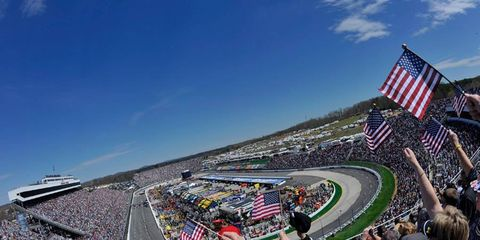 NASCAR officials hope for clear skies over Martinsville Speedway on Saturday and Sunday.