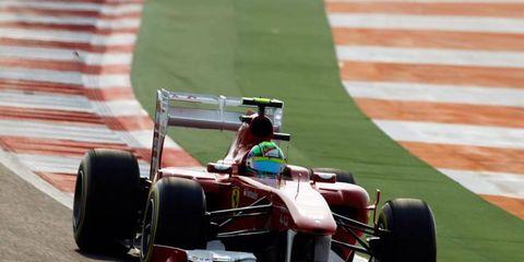 Ferrari's Felipe Massa had high praise for the wide turns of the Formula One track in India.