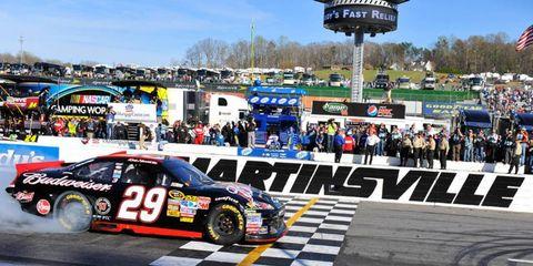 Kevin Harvick won the spring NASCAR race at Martinsville.
