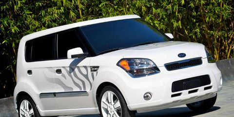 The 2011 Kia Soul has a four-cylinder engine rated at 142 hp.