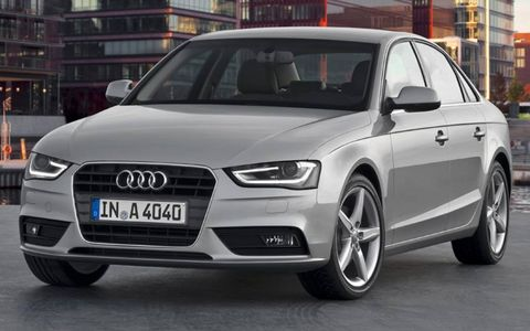 The Audi A4 gets some new front styling for 2013.