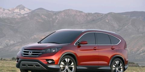 The 2012 CR-V concept is slated for U.S. production in late 2011.