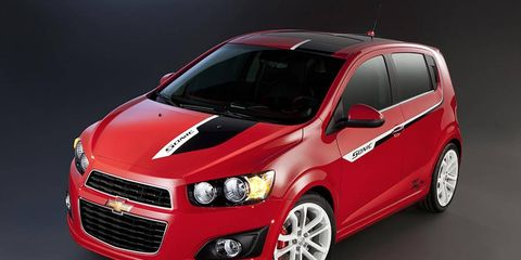 The Chevrolet Sonic Z-Spec No.1 will be one of the hot hatches at the SEMA show.