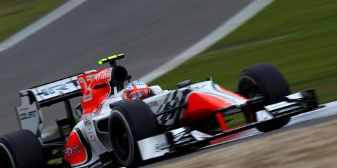 Indian driver Narain Karthikeyan will race with the HRT team for the Indian Grand Prix.