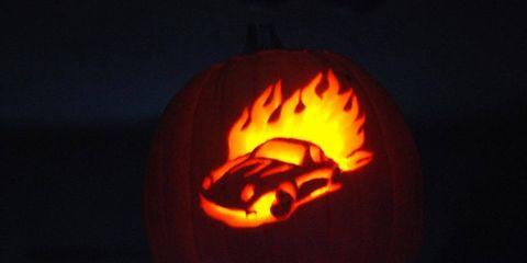 Turn your Halloween gourd into a Porsche pumpkin.