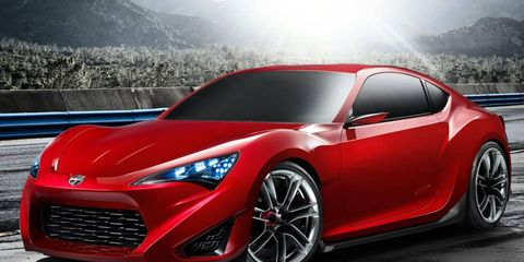 The sporty, rear-drive FR-S coupe arrives in Scion showrooms in spring 2012 with a sticker price well north of $20,000.