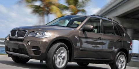 The BMW X5 is included in a recall for a faulty water pump.