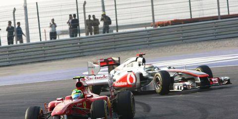 Ferrari's Felipe Massa tangled with McLaren's Lewis Hamilton during Sunday's Indian Grand Prix.