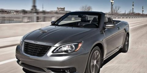 The V6 in the 2011 Chrysler 200 convertible is rated at 283 hp.