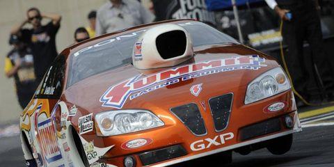Jason Line clinched the NHRA Pro Stock championship on Sunday.