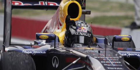 Red Bull Racing's Sebastian Vettel led from start to finish at Sunday's Indian Grand Prix.