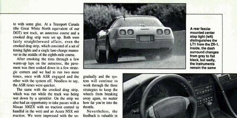 The <i>Autoweek</i> archives explores the 1992 Chevrolet Corvette with its new LT1.