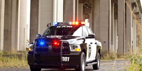 The Ram 1500 4x4 Special Service vehicle gets heavy-duty parts to deal with long hours of usage by police.