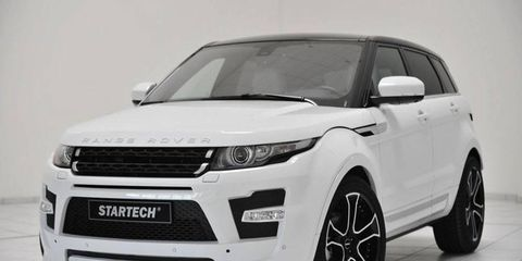 The Startech upgrades lower the new Land Rover Range Rover Evoque by 1.4 inches and add more aggressive front and rear fascias.