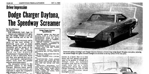 Ron Hickman test drives the '69 Dodge Charger Daytona