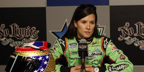 """Danica Patrick will honor the late Dan Wheldon during the NASCAR Nationwide Series 300 at Texas Motor Speedway with a special """"Daniel Wheldon"""" tribute helmet that she will then donate to the Graham Rahal-organized Dan Wheldon Memorial Auction."""