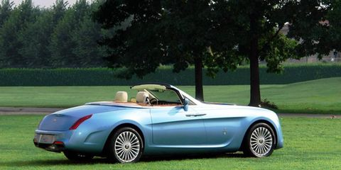 The Hyperion by Pininfarina started as a Rolls-Royce Phantom Drophead Coupe.